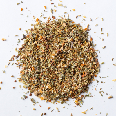 cough syrup loose leaf herbal tea blend of fennel, ginger, cherry bark, orange peel, fennel seed
