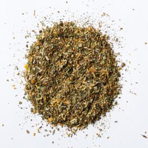 allergy slayer loose leaf herbal tea blend of elder flower, nettle, ginkgo, lemon balm