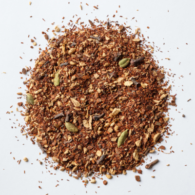 loose leaf rooibos chai with cardamom ginger