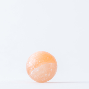 tangerine selenite sphere